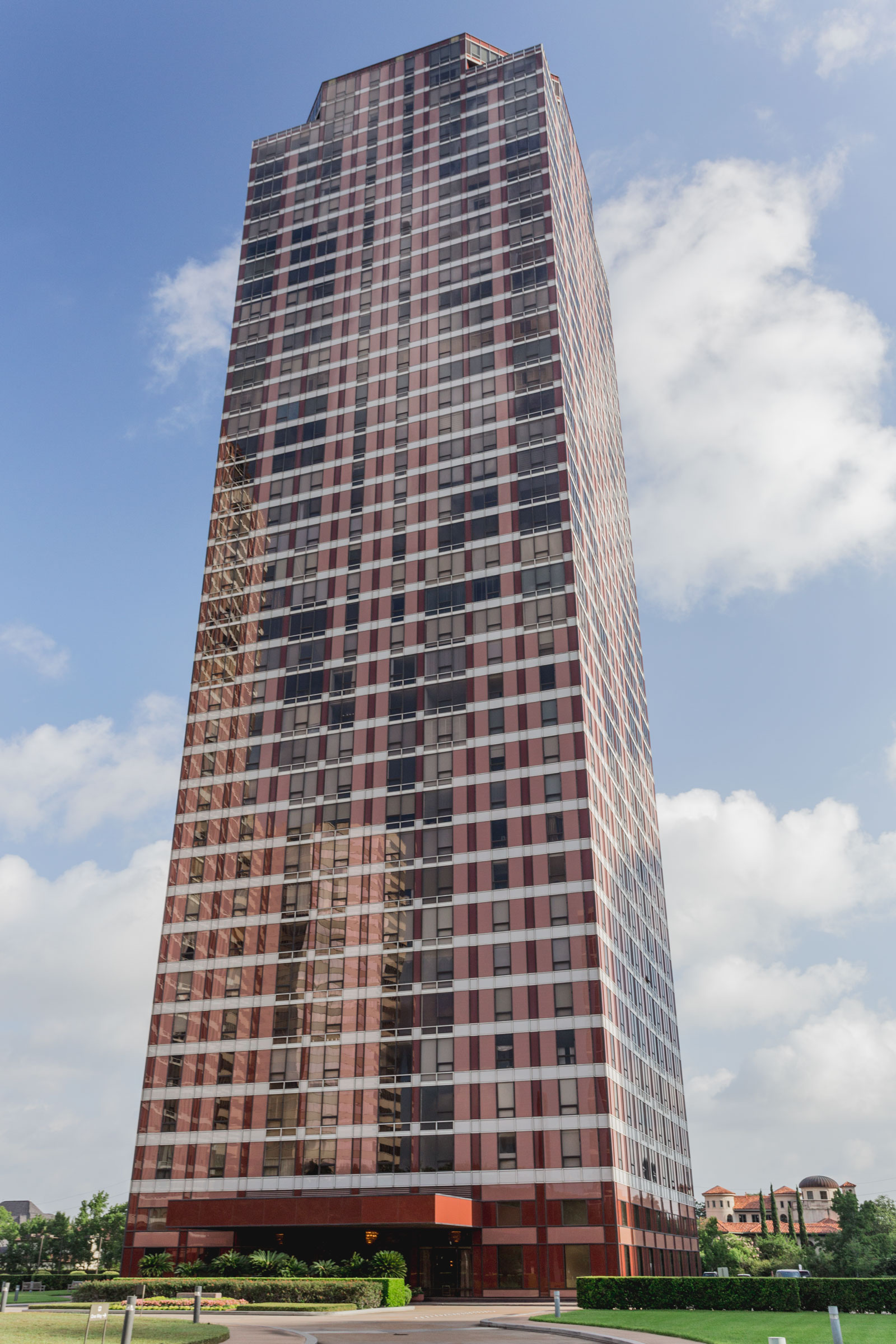exterior of high-rise tower
