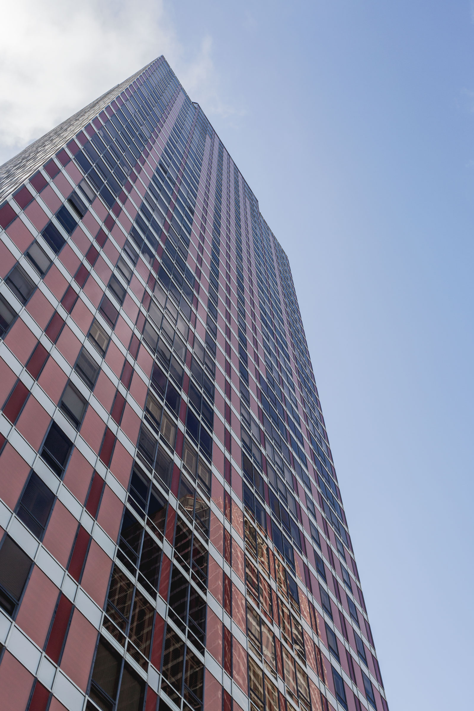 close-up angle of high-rise tower